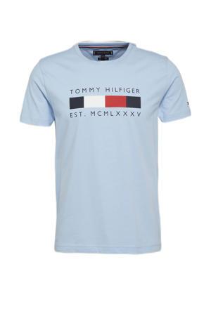 T-shirt van biologisch katoen sweet blue