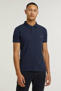 Tommy Hilfiger slim fit polo donkerblauw, Donkerblauw