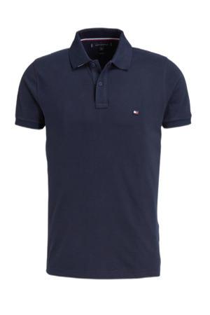 slim fit shirt donkerblauw