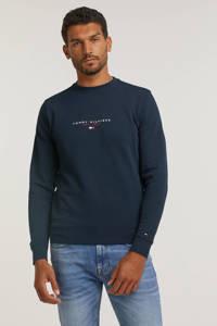 Tommy Hilfiger sweater van biologisch katoen donkerblauw, Donkerblauw