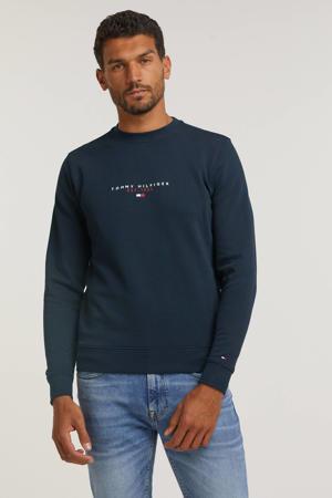 sweater van biologisch katoen donkerblauw