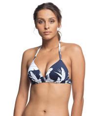 Roxy gebloemde triangel bikinitop Beach Classics zwart/wit, Zwart/wit