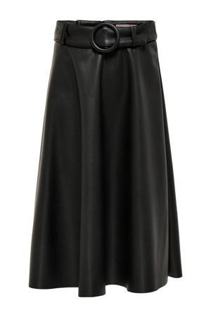 coated rok KONKALIA met ceintuur zwart