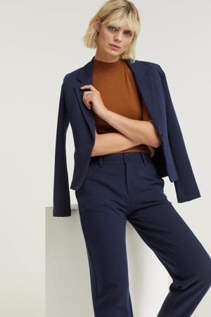 blazer FQCANNI-JA van gerecycled polyester donkerblauw
