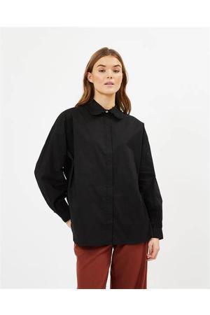 blouse Tillena met ruches zwart