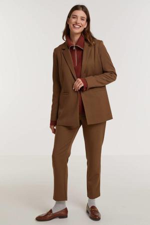 cropped straight fit pantalon Halle bruin