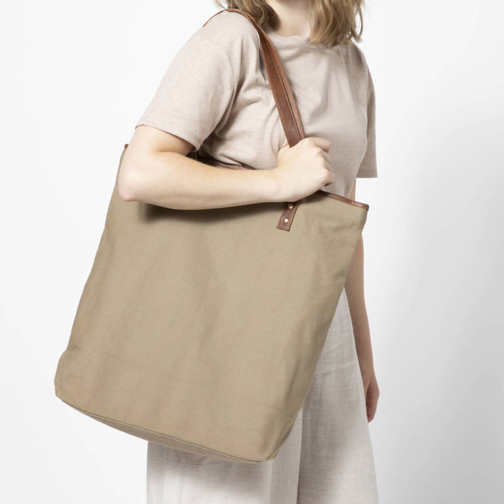 Manfield  shopper taupe, Taupe