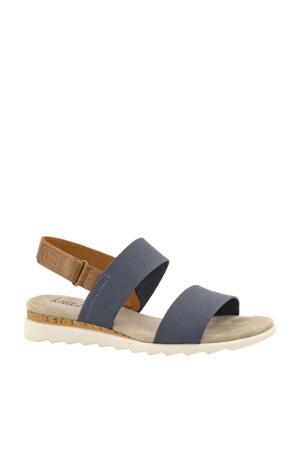 sandalen blauw/bruin
