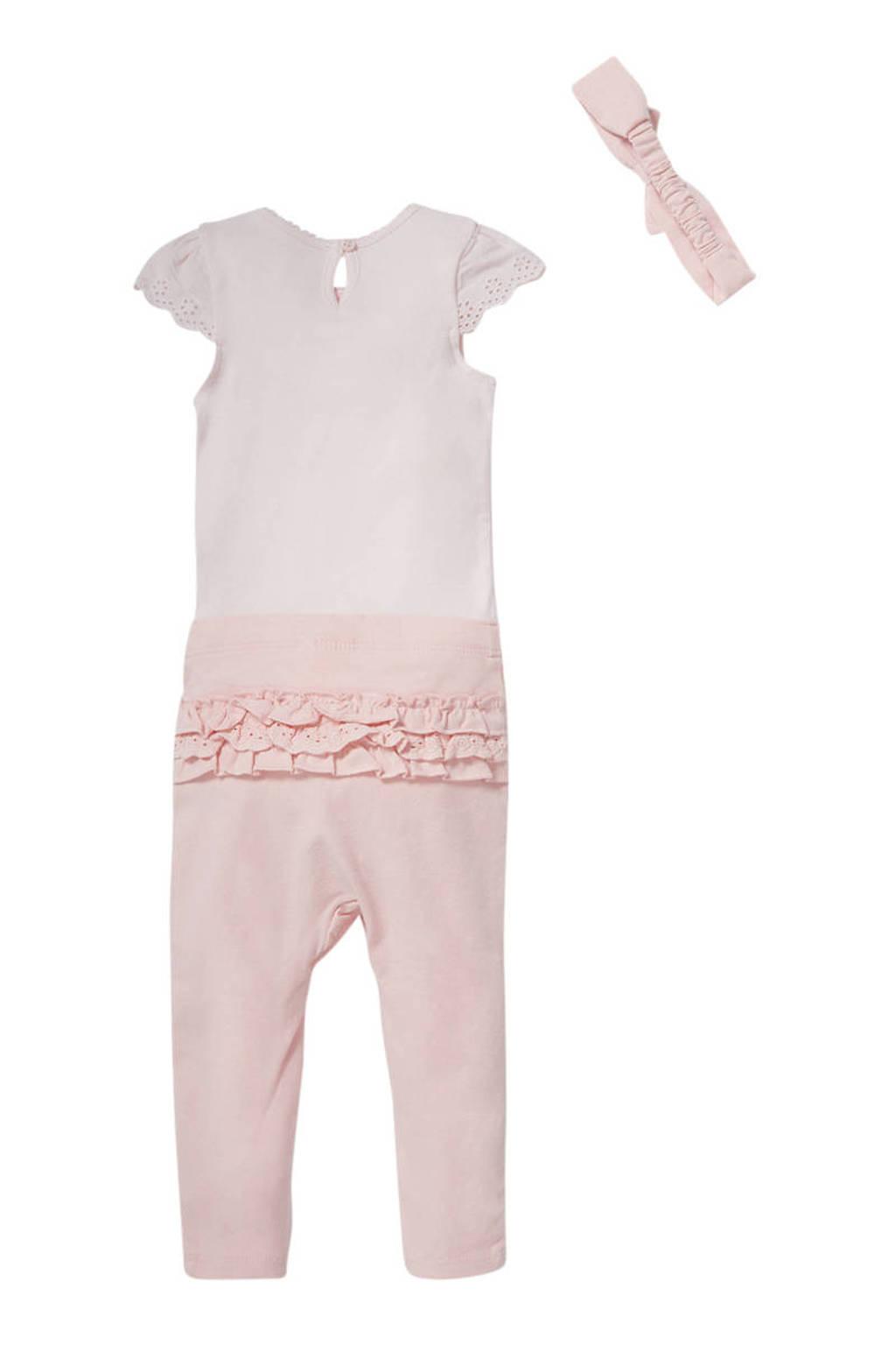 C&A Baby Club T-shirt + broek + haarband lichtroze, Lichtroze