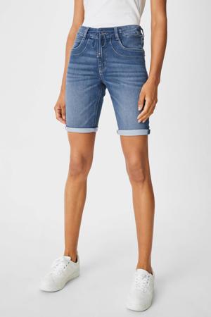 slim fit bermuda jeans lichtblauw