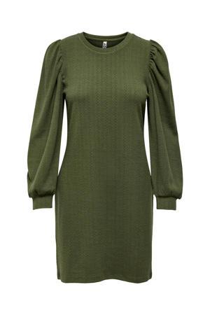 jurk JDYANNY met textuur donkergroen