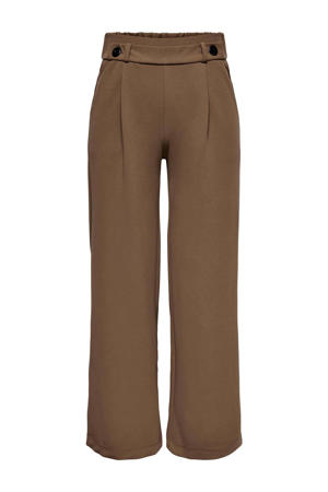 cropped high waist loose fit palazzo broek JDYGEGGO bruin