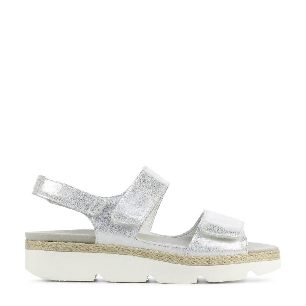 Waldlaufer 770001 comfort leren sandalen zilver, Zilver