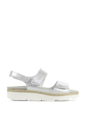 770001 comfort leren sandalen zilver