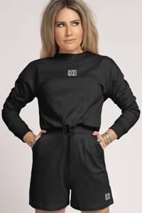 NIKKIE sweater met logo zwart, Zwart