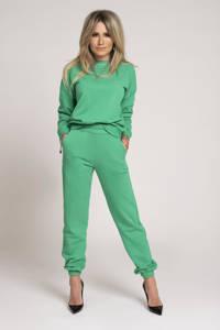 NIKKIE sweater met borduursels groen, Groen