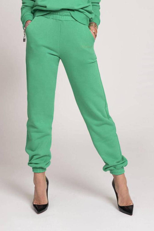 NIKKIE straight fit broek met logo groen, Groen