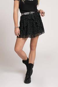 NIKKIE rok Future Star van gerecycled polyester zwart, Zwart