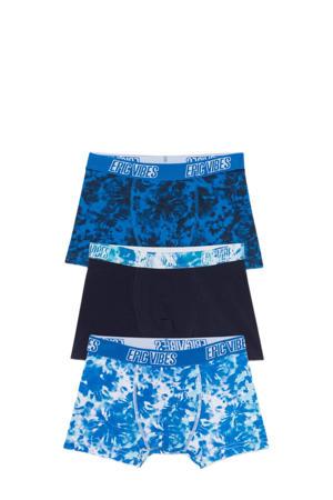 boxershort - set van 3 zwart/blauw/wit