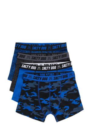 boxershort - set van 4 blauw/zwart