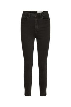 cropped high waist skinny jeans NMAGNES black denim