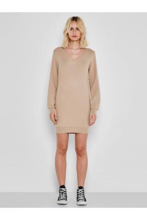 fijngebreide jurk NMSHIP beige
