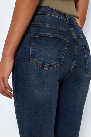 cropped high waist skinny jeans NMAGNES medium blue denim