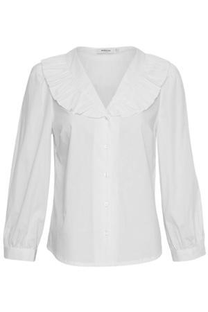 blouse Brisa Ava  met ruches wit