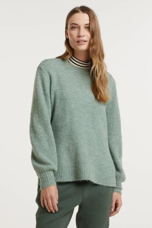 gemêleerde fijngebreide trui Imaya met wol lichtblauw