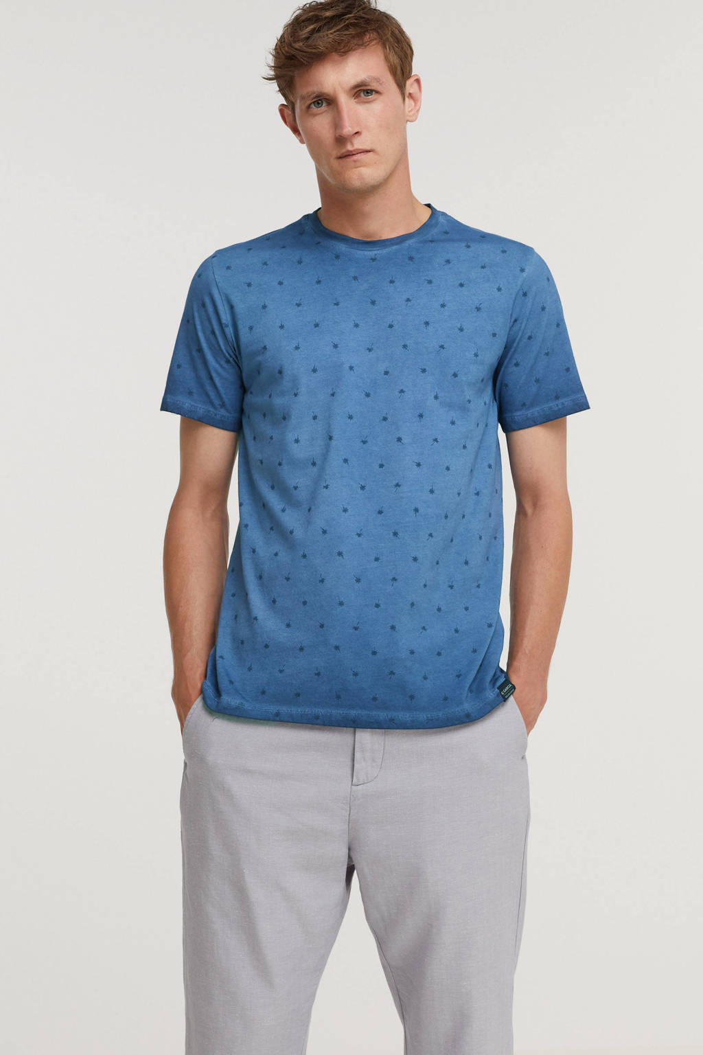 Garcia T-shirt met all over print imperial blue, Imperial Blue