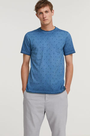 T-shirt met all over print imperial blue