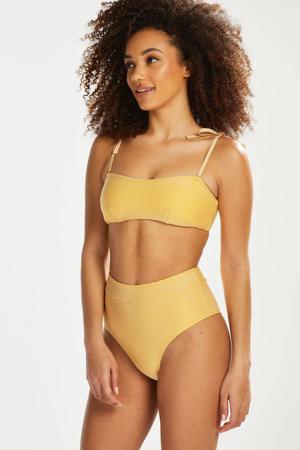 gestreepte strapless bandeau bikinitop Carmel geel