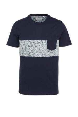 T-shirt Bloom van biologisch katoen navy blazer