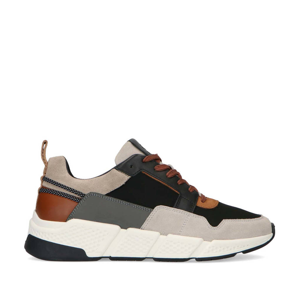Sacha   suède sneakers beige/multi, Beige/Grijs/Multi