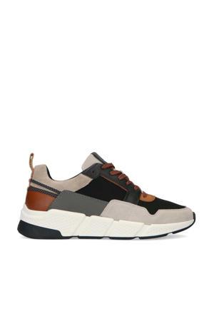 suède sneakers beige/multi