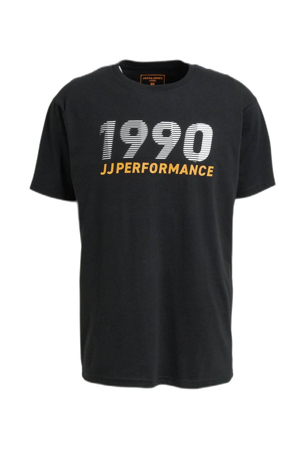 JACK & JONES PERFORMANCE   sport T-shirt Build zwart, Zwart