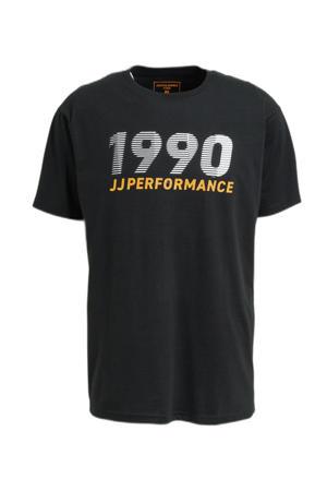 sport T-shirt Build zwart