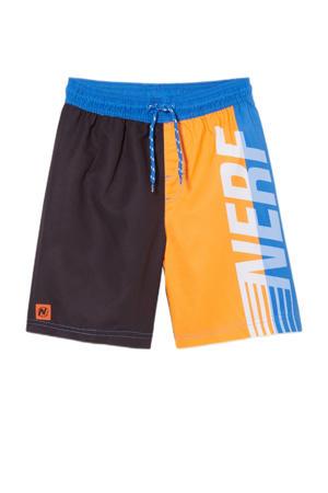 zwemshort oranje/zwart/blauw
