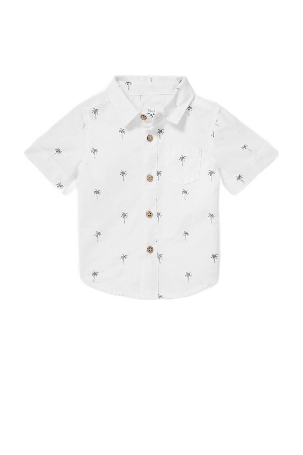 C&A Baby Club baby overhemd met all over print ecru, Ecru