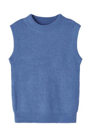 ribgebreide trui Lulja blauw