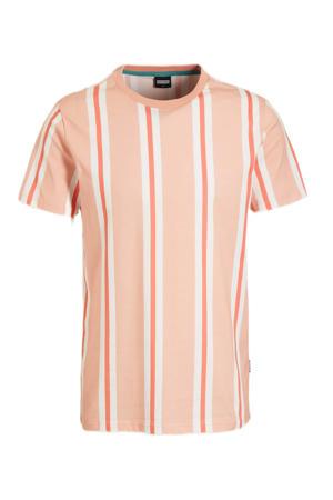 gestreept T-shirt Marko dusty pink