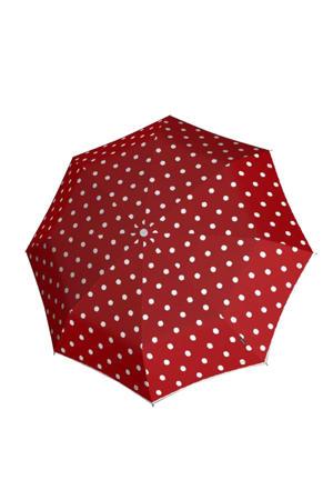 paraplu T-200 Medium duomatic rood/wit