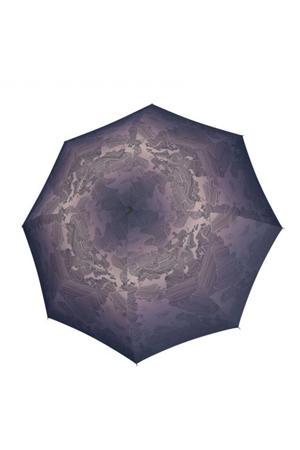 paraplu T-200 Medium Duomatic blauwgrijs