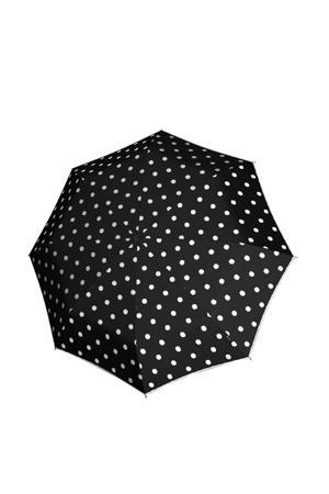 paraplu T-010 Small Manual zwart/wit