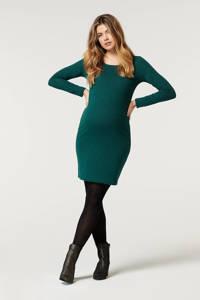 Noppies gestreepte zwangerschapsjurk Zinnia donkergroen, Groen