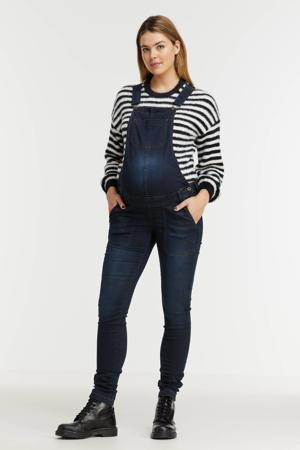 low waist skinny zwangerschapstuinbroek dark denim