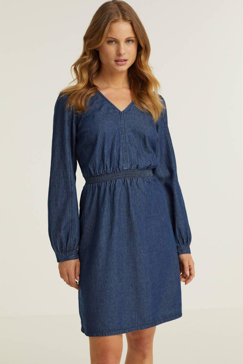 anytime denim midi jurk, Blauw