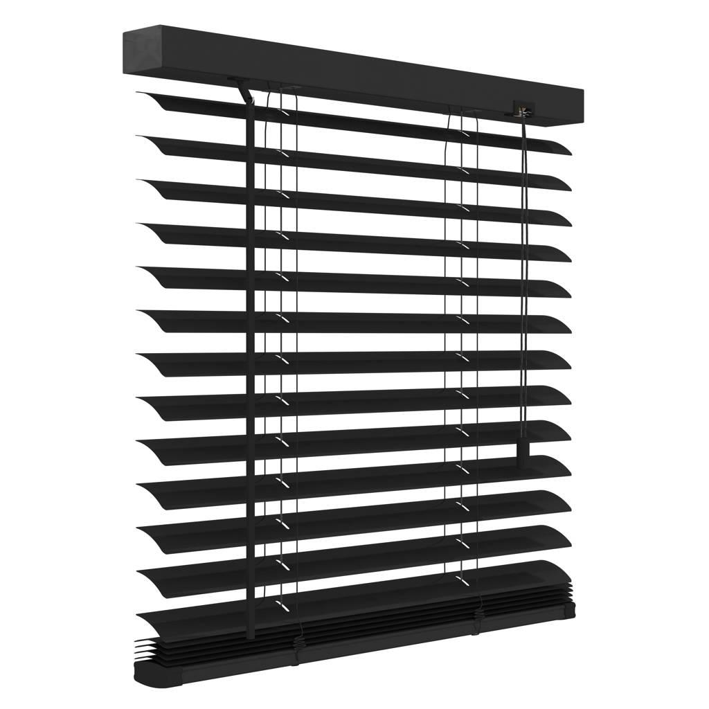 Decosol Deluxe aluminium jaloezie (160x180 cm), Mat zwart
