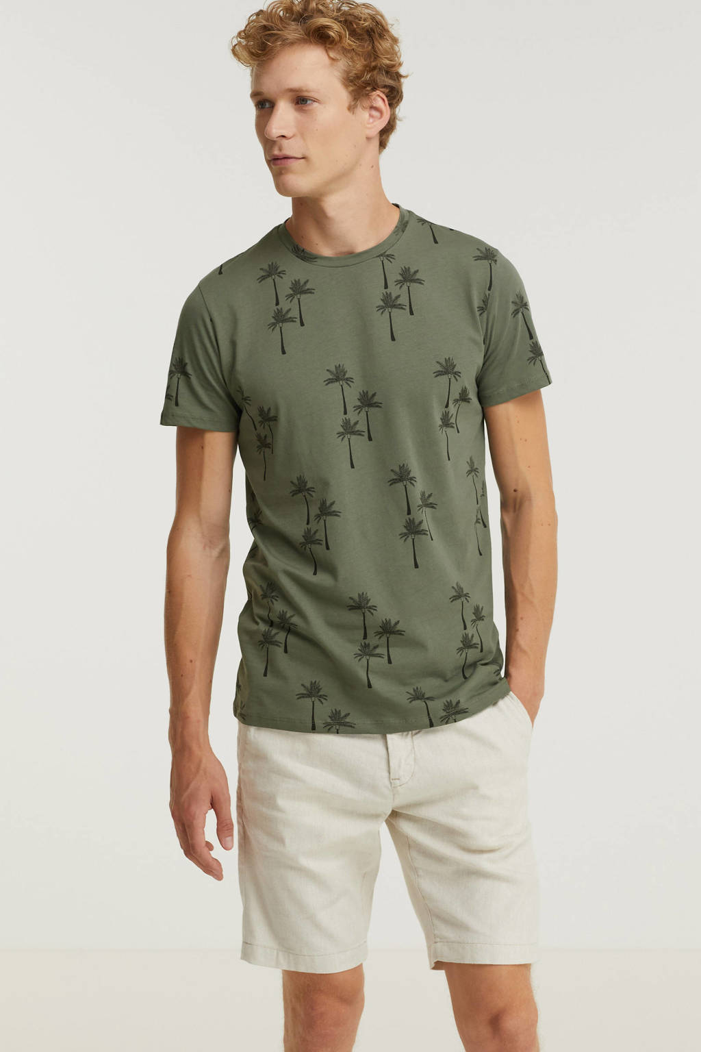 Cars T-shirt met all over print army, Army