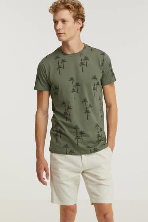 T-shirt met all over print army